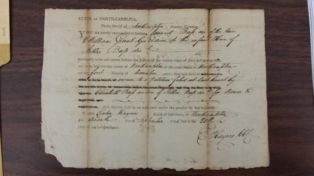 1795 Eaton Haynes Petition