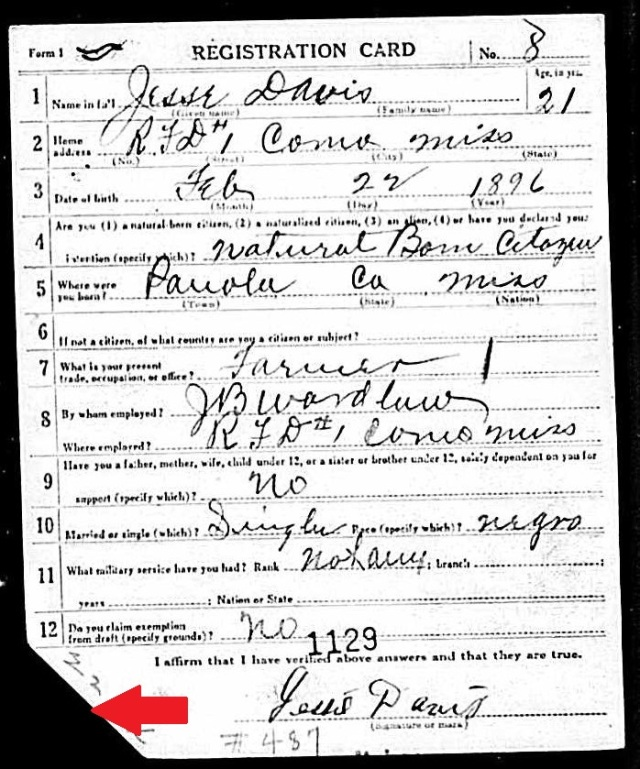 Jessie Davis Draft Card