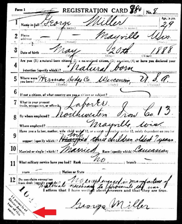 White Draft Card