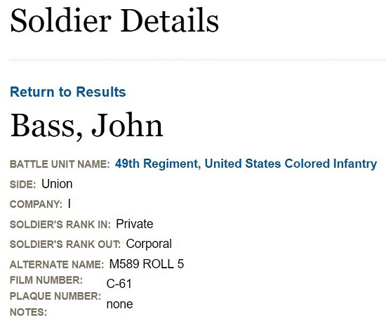 John Bass USCT Profile