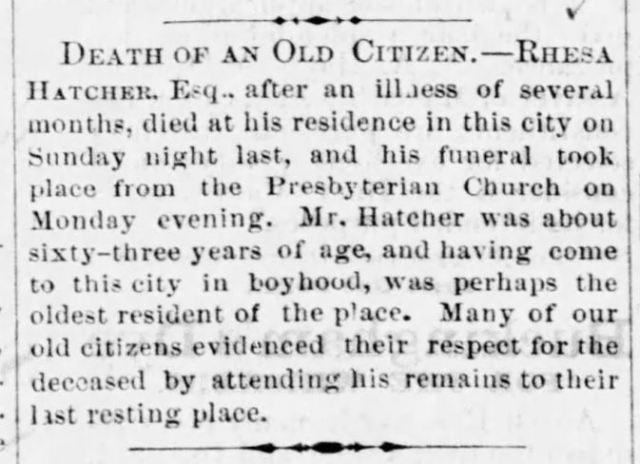 Rhesa Hatcher Death