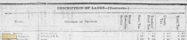 Seneca Hatcher Land